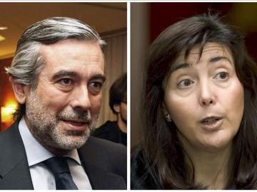 Los magistrados Enrique López (i) y Concepción Espejel (d)