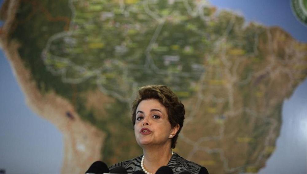 Dilma Rousseff en rueda de prensa