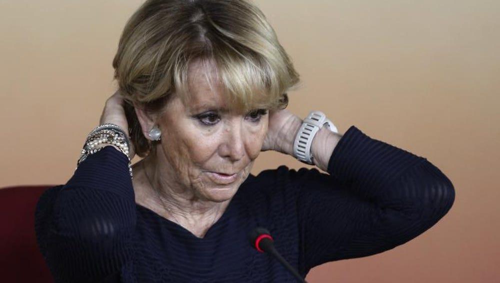 Esperanza Aguirre, presidenta del PP de Madrid