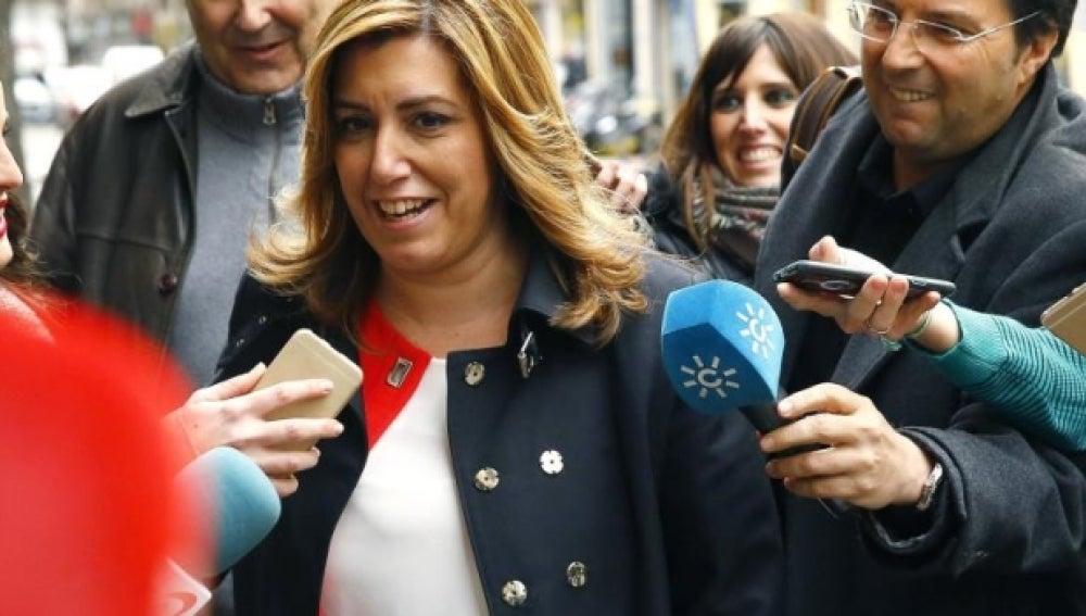 """Susana Díaz: """"Estoy cansada de que Iglesias se meta con los militantes del PSOE"""""""