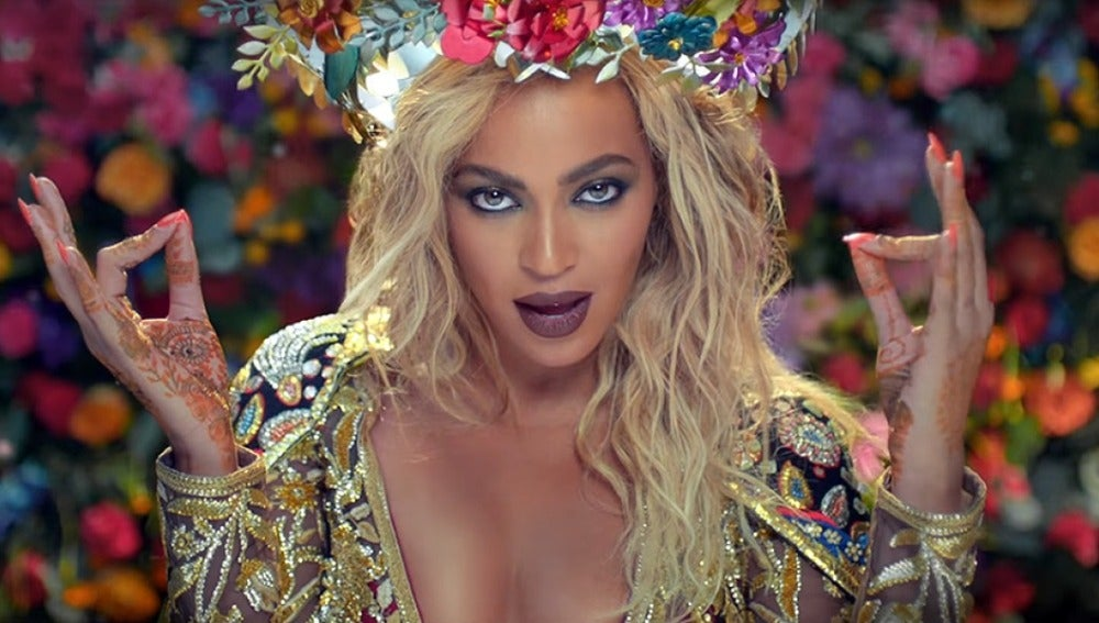 Beyoncé en el videoclip 'Hymn for the weekend'
