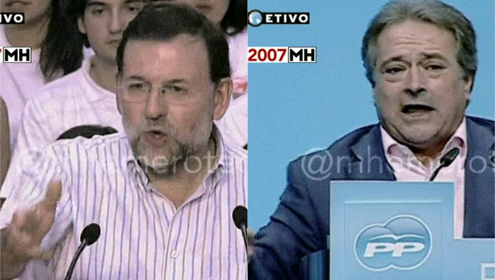 Maldita Hemeroteca al cariño entre Rajoy y Rus