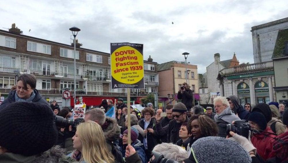 Manifestación en Dover