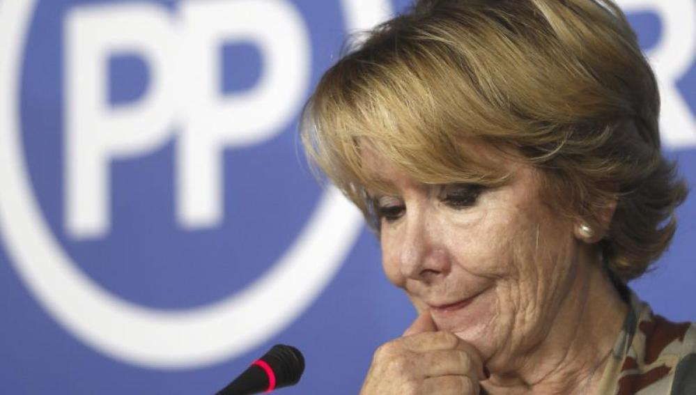 Esperan Aguirre en la comparecencia de hoy