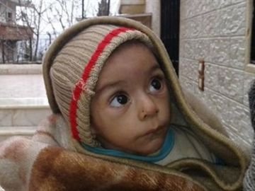 Imagen de archivo de un niño sirio