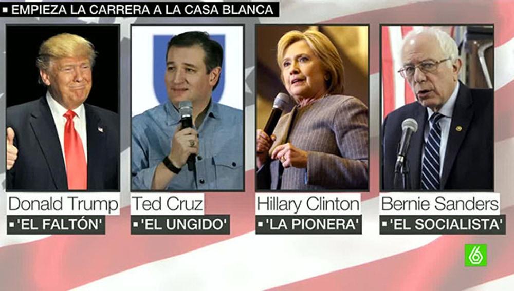 Los candidatos a la Casa Blanca