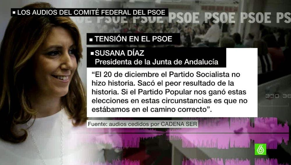 Susana Díaz en el Comité Federal