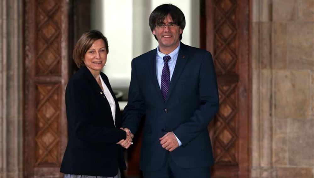 El presidente de la Generalitat y la presidenta del Parlament