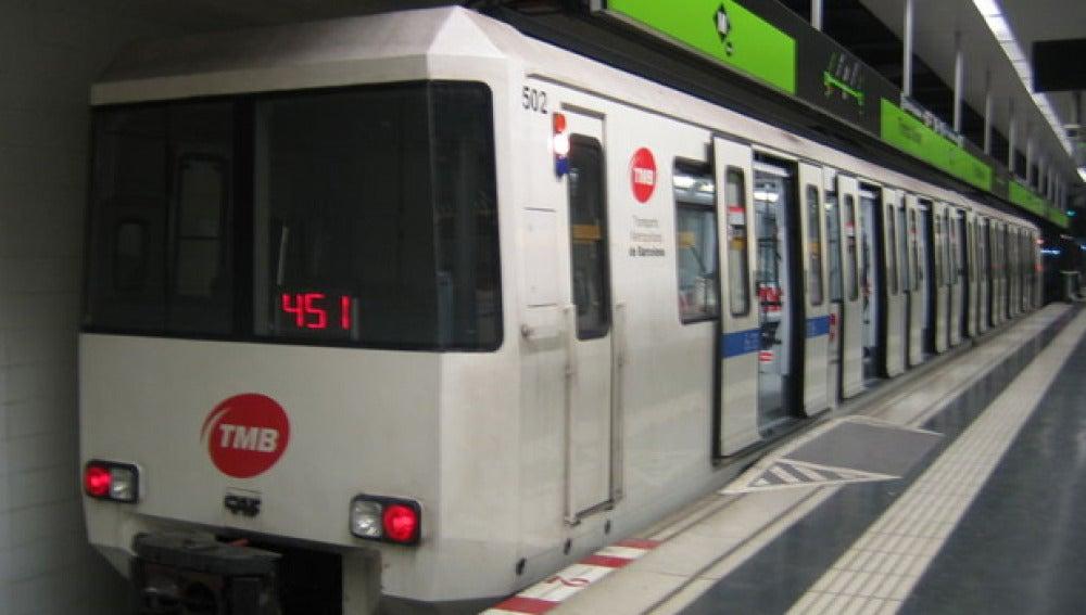 Imagen de un vagón del metro de Barcelona