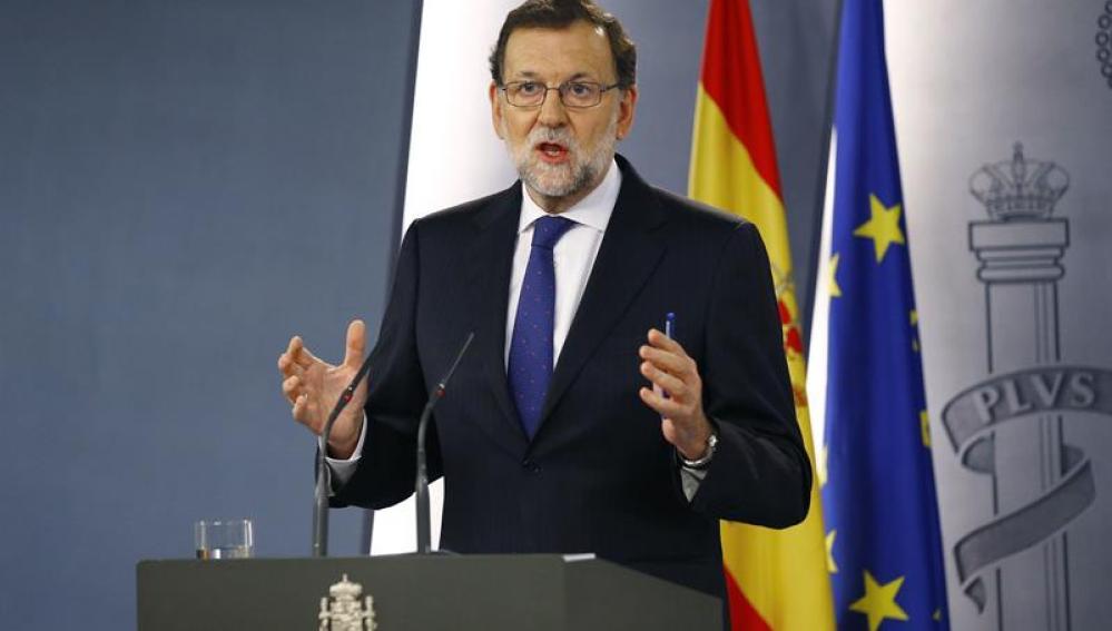 Mariano Rajoy hablando en el Congreso