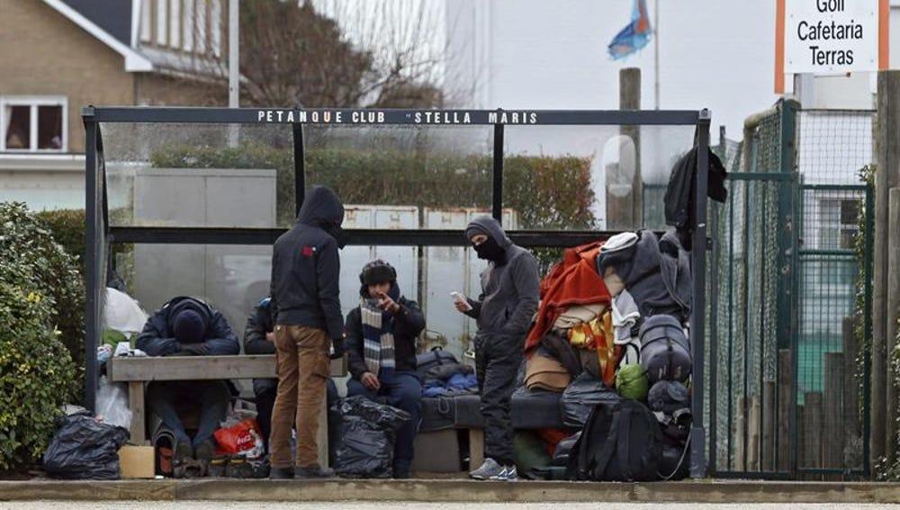 Refugiados en Zeebrugge, Bélgica