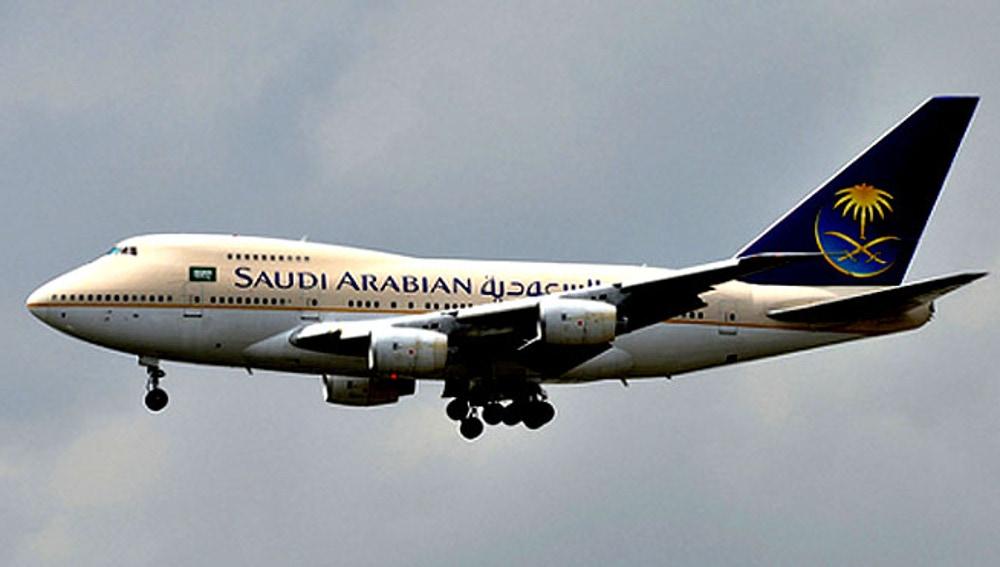 Avión de Saudi Airlines