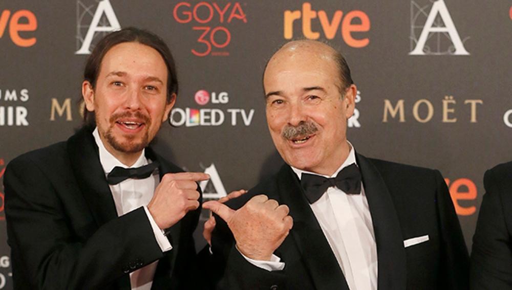 Pablo Iglesias y Antonio Resines