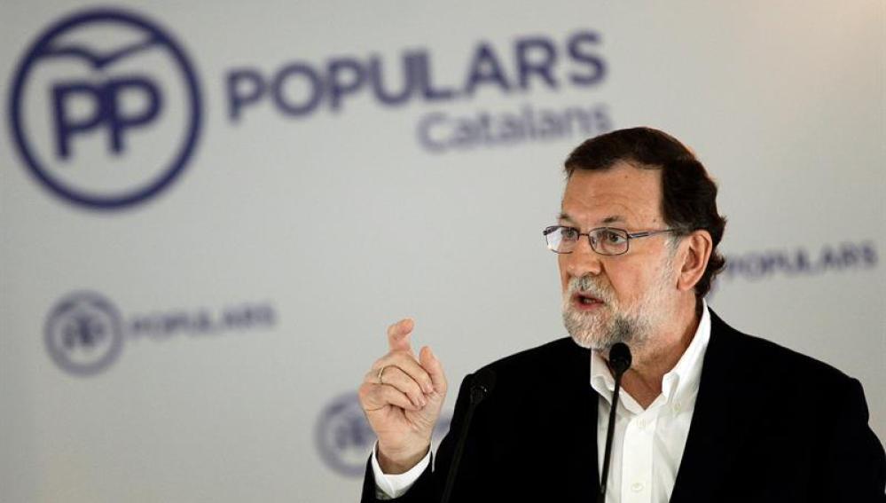 El líder del Partido Popular, Mariano Rajoy