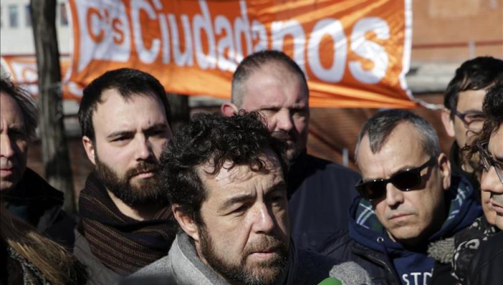 El secretario general del Grupo Parlamentario Ciudadanos, Miguel Gutiérrez