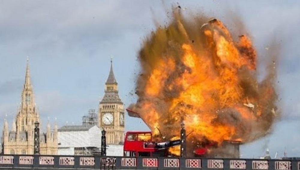 Explosión controlada en un rodaje en Londres