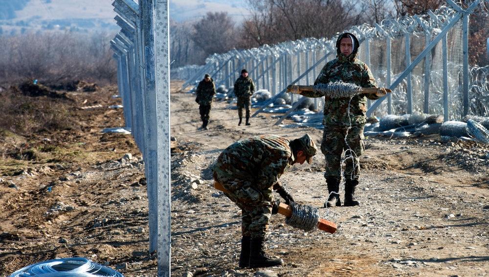 La segunda valla contra inmigrantes sin papeles de Macedonia