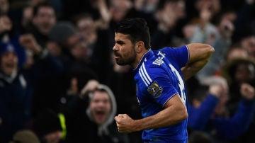 Diego Costa celebra un gol con el Chelsea