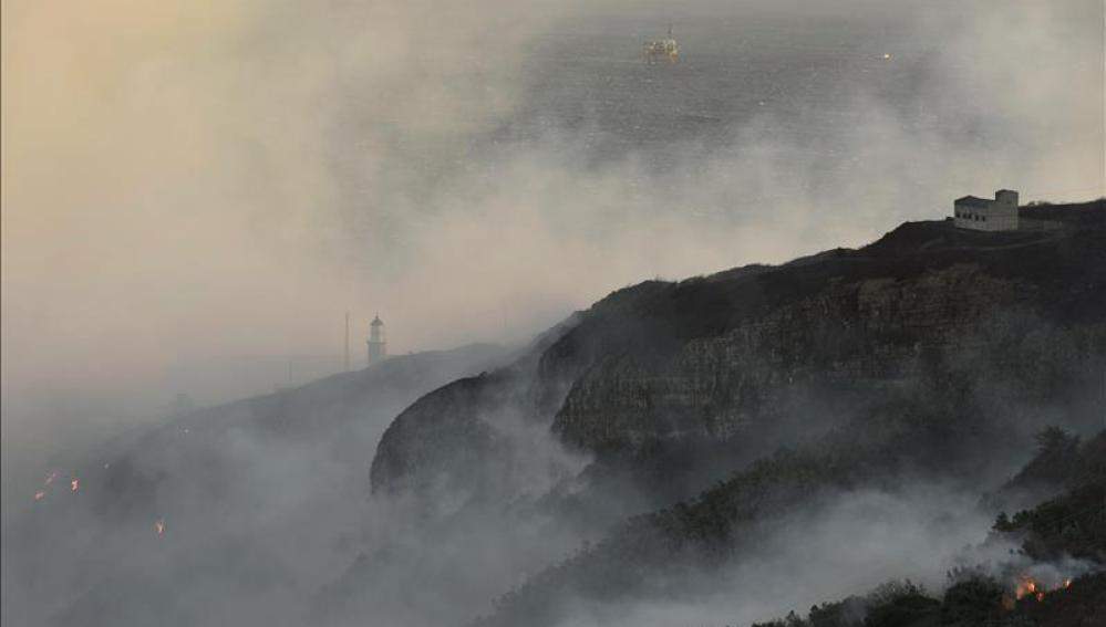 Incendio declarado en Lanjarón, Granada