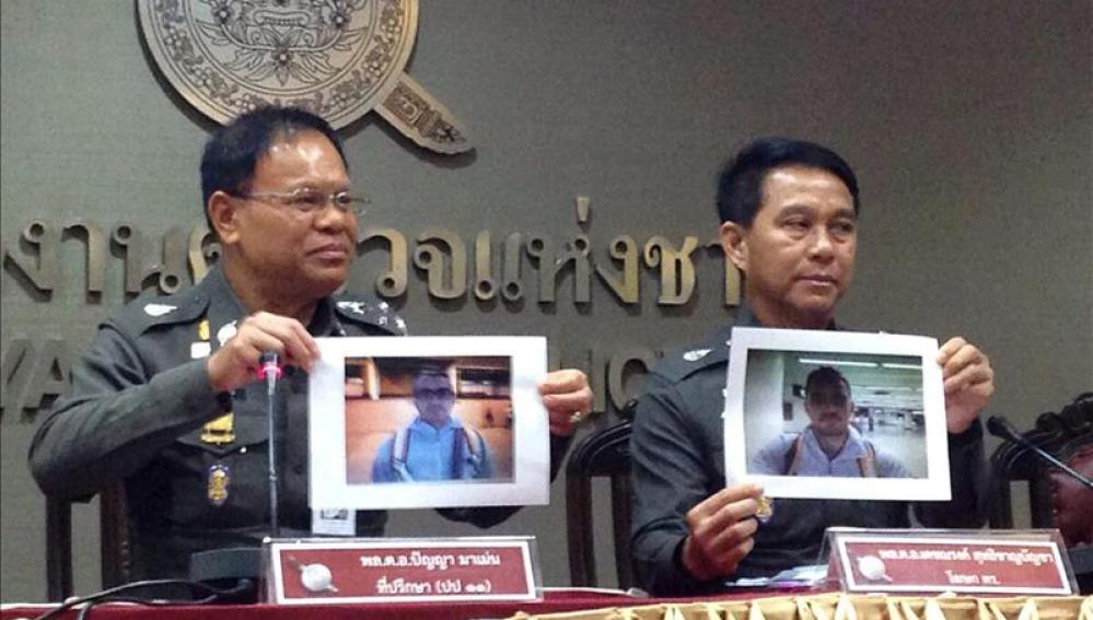 La Policía tailandesa muestra el retrato del principal sospechoso