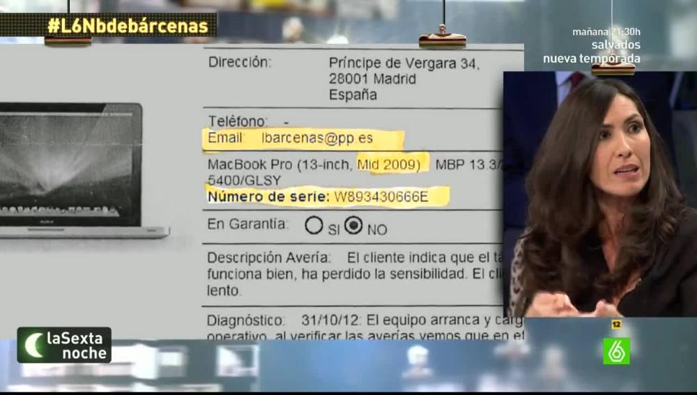 La periodista Marisa Gallardo, en laSexta Noche