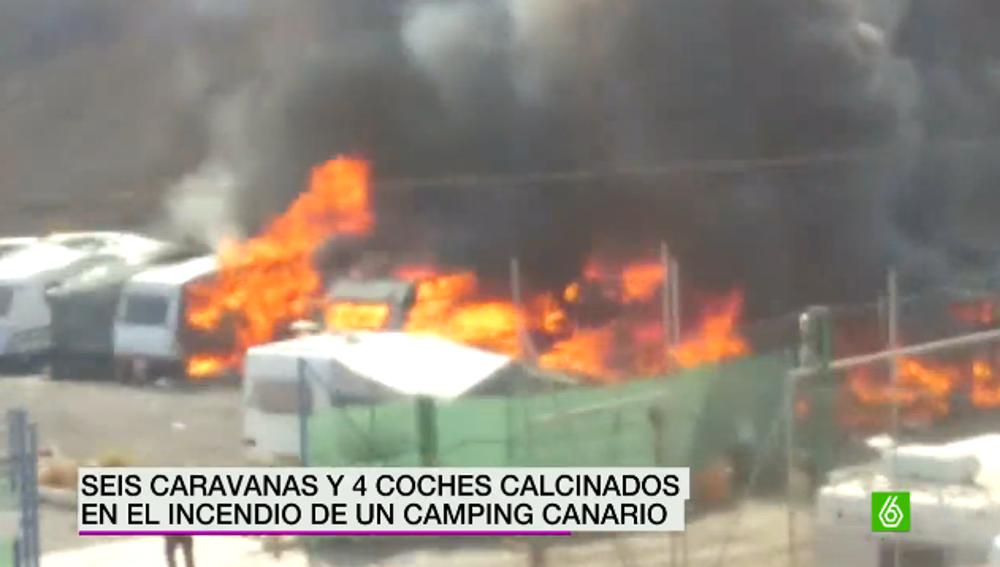 Explosión en un camping canario