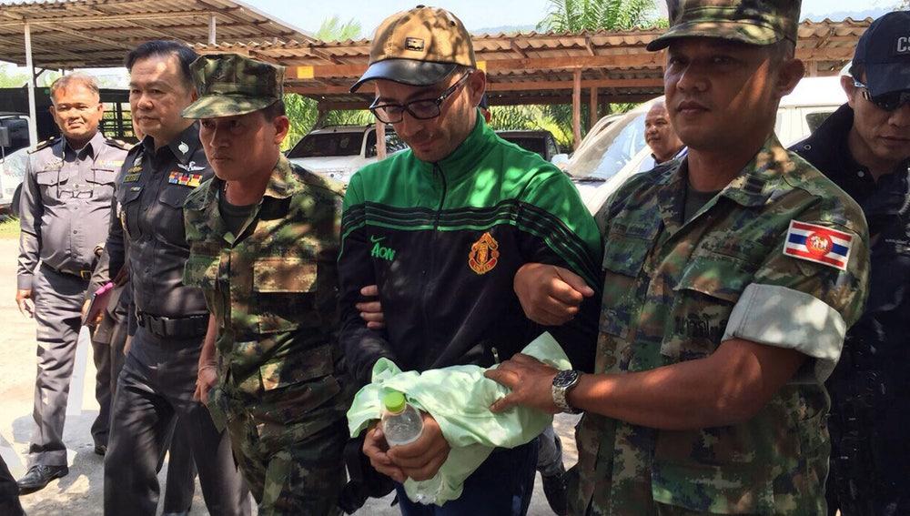 Imagen facilitada por la Real Policía de Tailandia del español Artur Segarra
