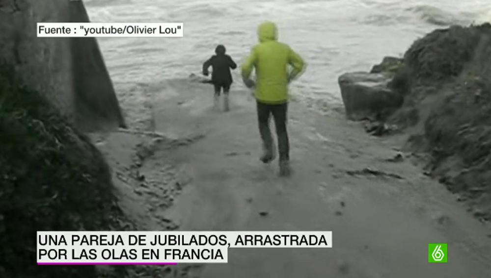 Jubilado arrastrado por una ola en Francia