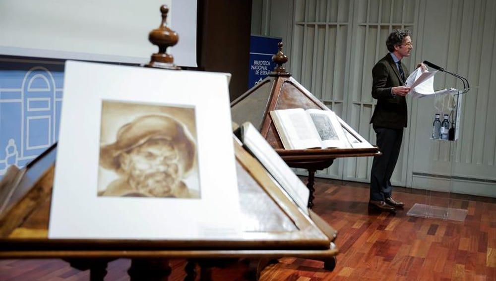 Acto de conmemoración por el cuarto centenario de la muerte de Cervantes
