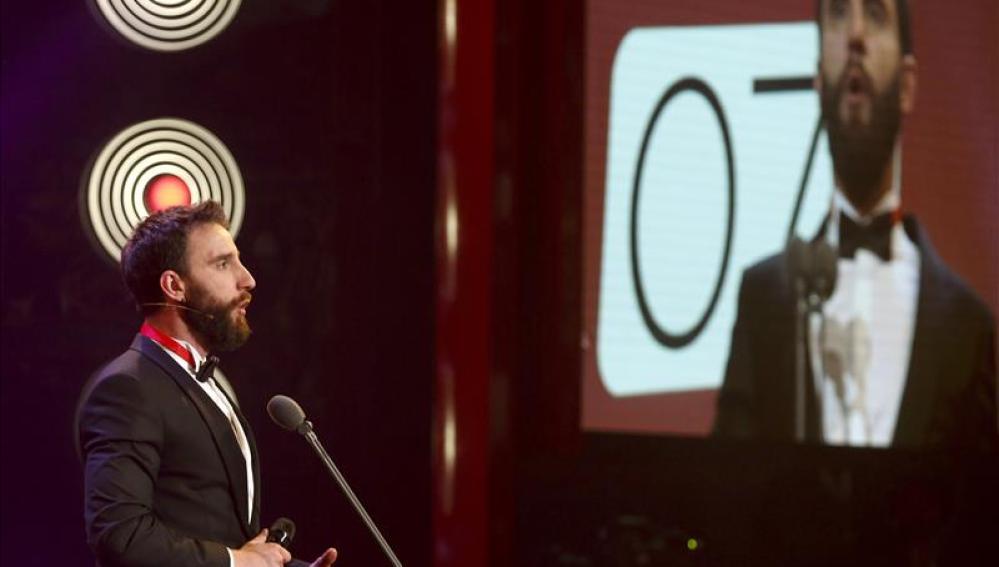 Dani Rovira, durante la presentación de la gala de los Goya