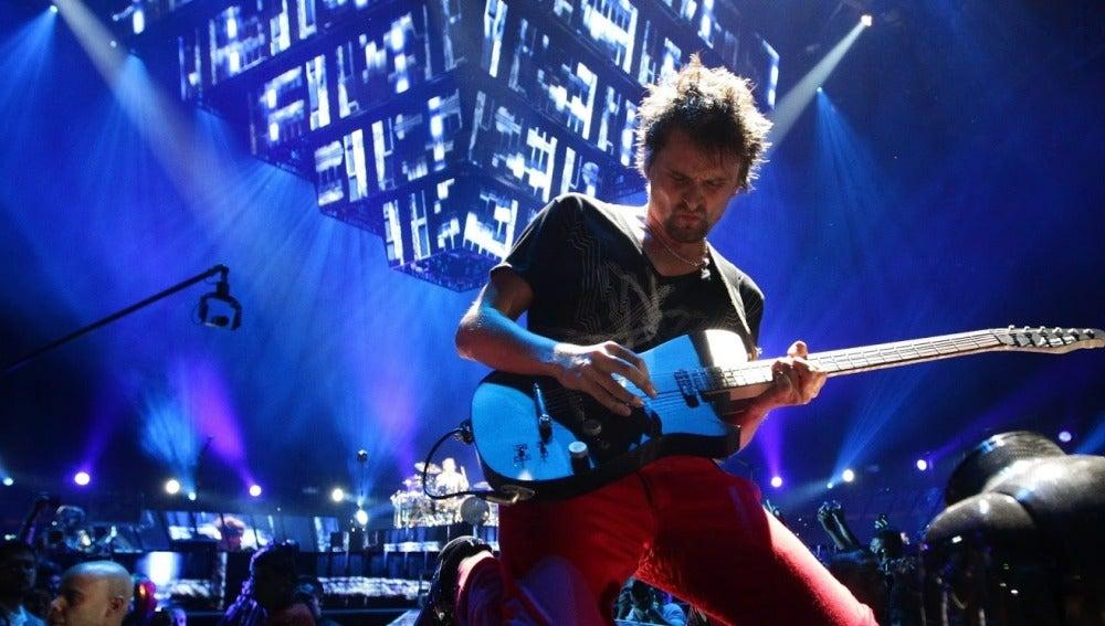Imagen de la banda Muse en un concierto