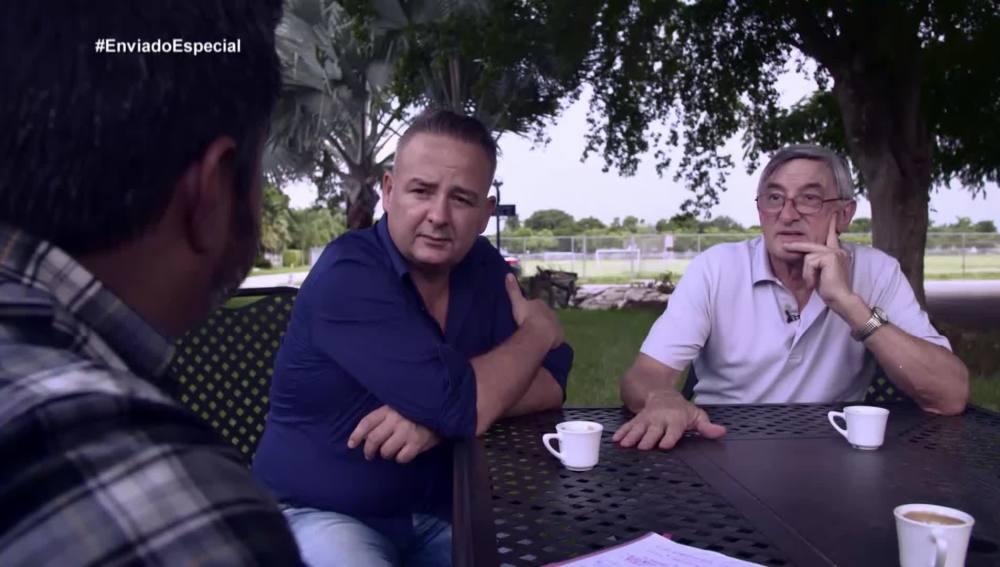 Cándido y Javier, padre y primo de Pablo Ibar