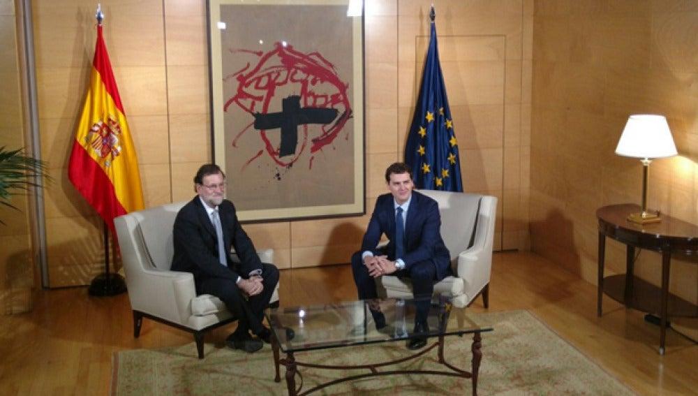 Rajoy y Albert Rivera, reunidos