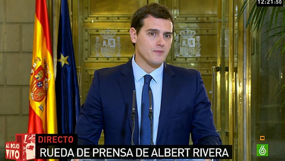 Albert Rivera en rueda de prensa