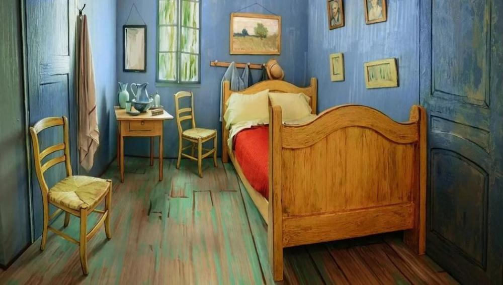 La recreación de 'el dormitorio de Arlés' de Van Gogh