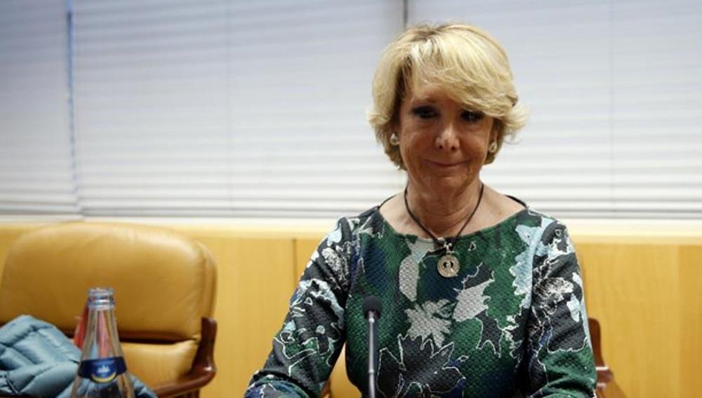 Esperanza Aguirre en la Comisión sobre corrupción