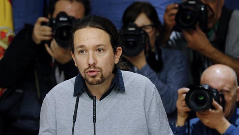 Pablo Iglesias comparece ante los medios