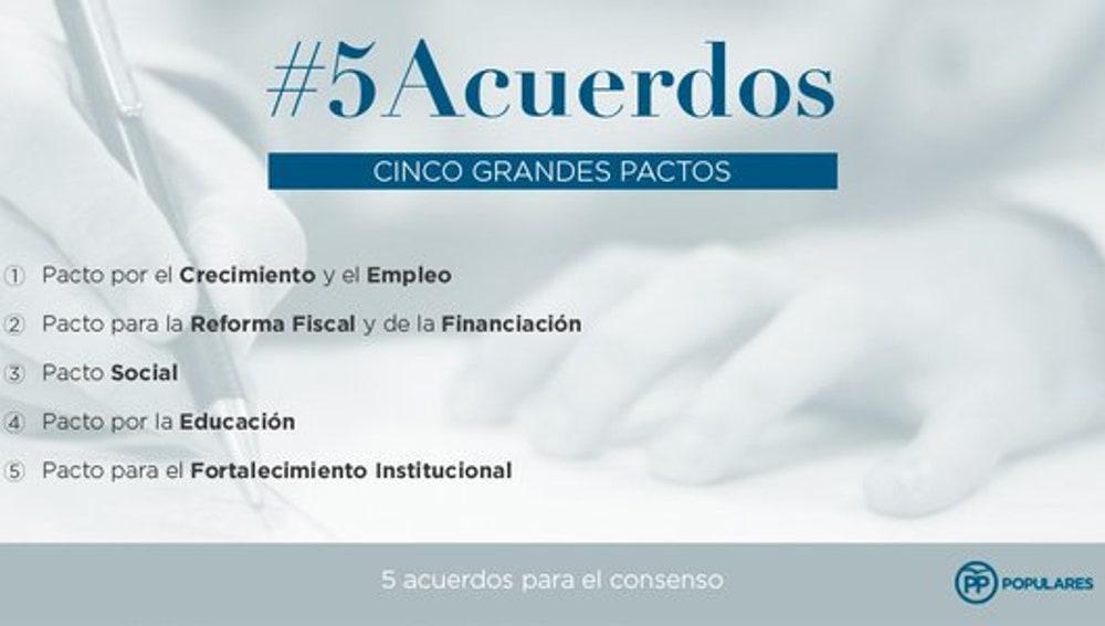 Cinco grandes acuerdos del PP