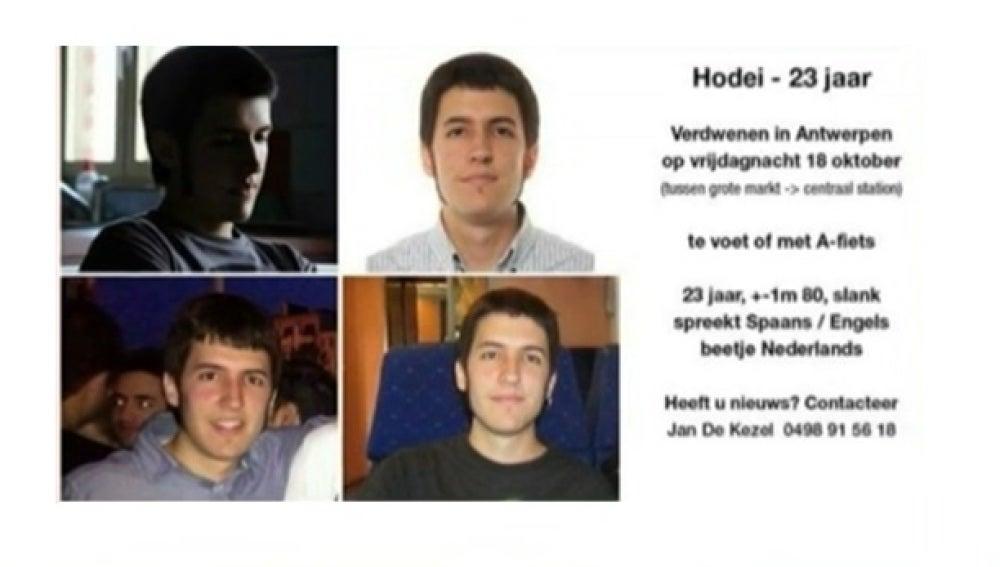 Cartel por la desparación de Hodei Eguiluz