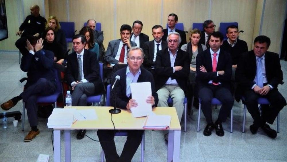 El excontable de Nóos, Marco Antonio Tejeiro, en el momento de su declaración