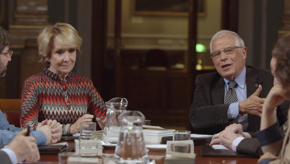 Esperanza Aguirre y Josep Borrell