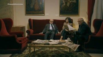 Eduardo Serra, Carmen Calvo y Josep Borrell