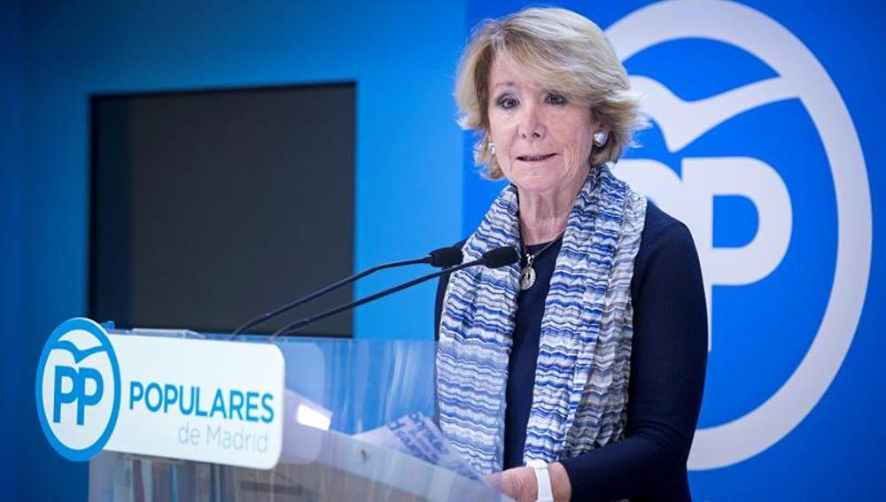 Esperanza Aguirre dimite como presidenta de la Comunidad de Madrid