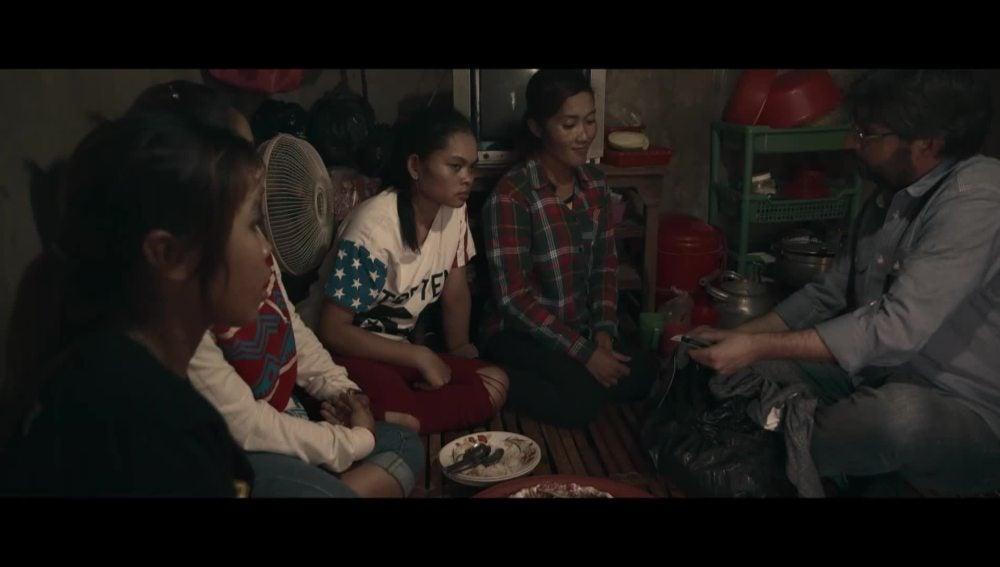 Trabajadoras asiáticas de la industria textil