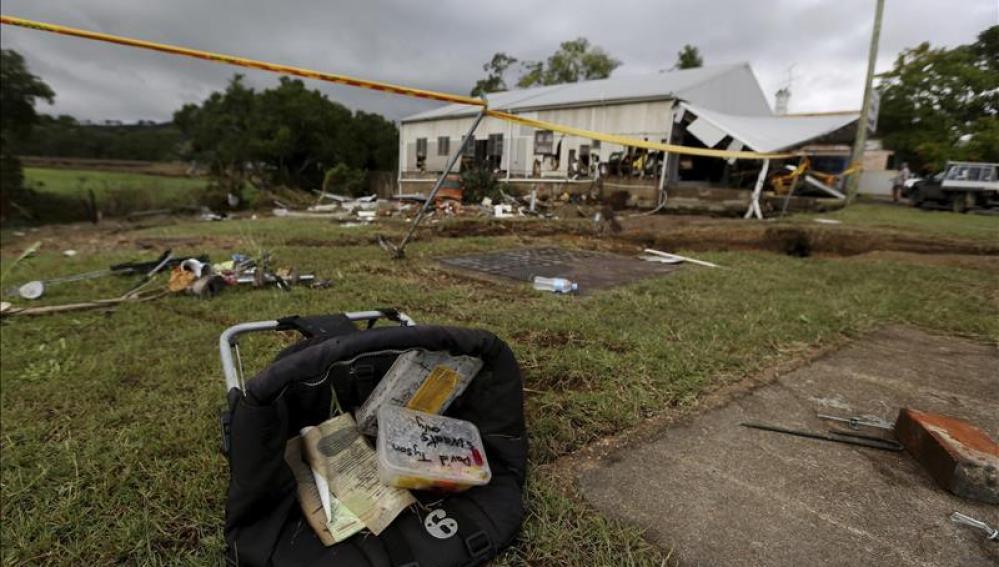 Vista general de los daños causados por un terremoto