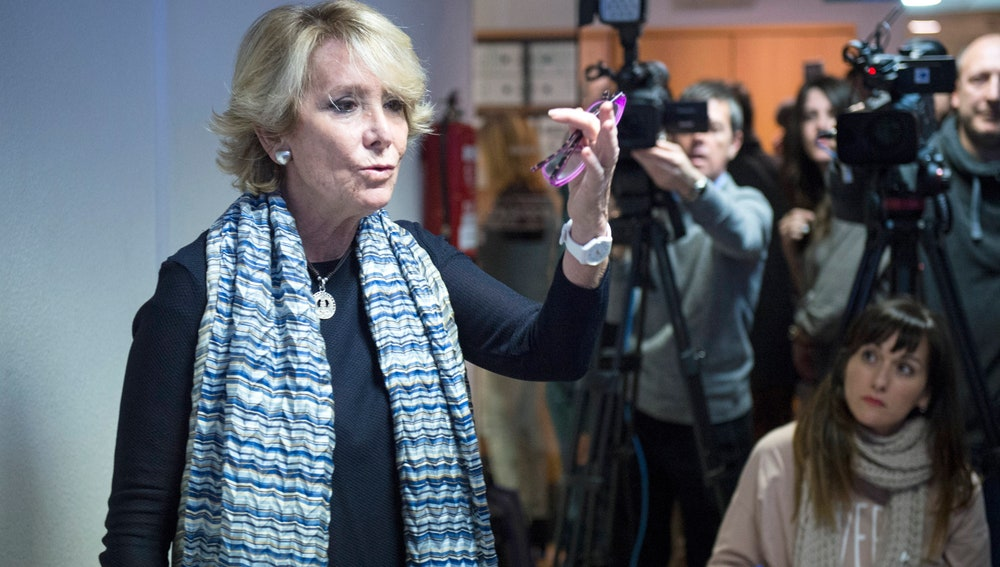 La concejal del PP en el Ayuntamiento de Madrid, Esperanza Aguirre