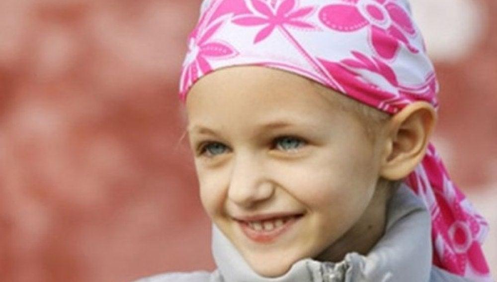 Imagen de una niña que padece cáncer
