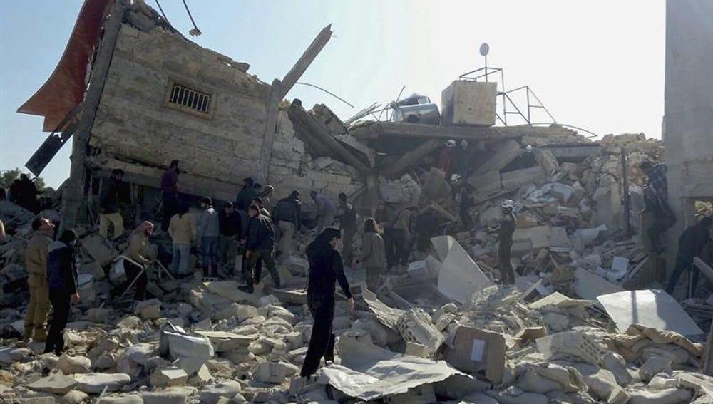 El hospital de MSF bombardeado