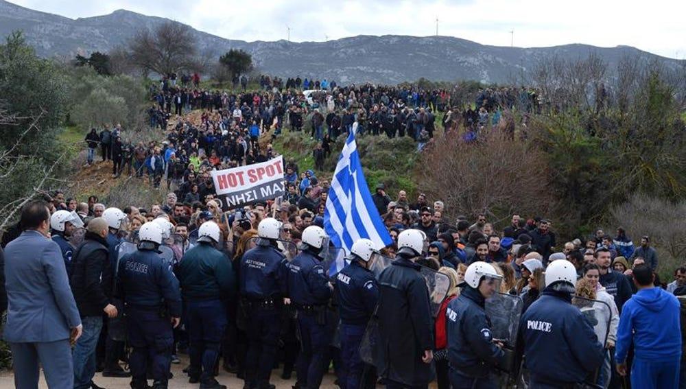 Protestas en la isla griega de Kos