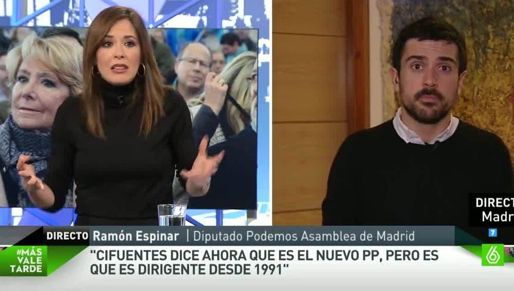 Ramón Espinar, de Podemos, en Más Vale Tarde